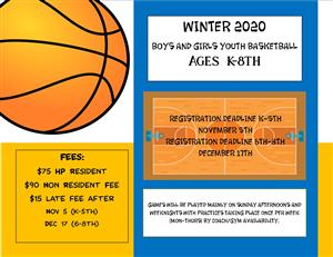 Winter 2020 Youth Basketball Homepage